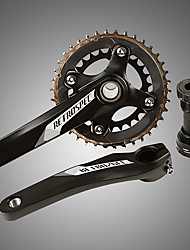 cheap -Cranksets For Mountain Bike MTB Aluminum Alloy Reduces Chafing / Durable / Easy to Install Cycling Bicycle Black