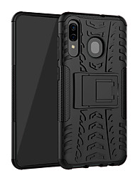 cheap -Case For Samsung Galaxy Galaxy A30(2019) Shockproof / with Stand Back Cover Solid Colored Hard TPU / Plastic