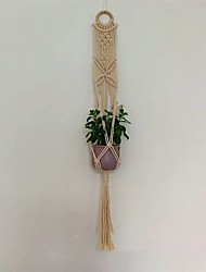 cheap -Handmade Weave Rope Plants Hanger Indoor Outdoor Hanging Planter Flowerpot Holder