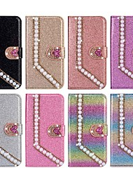 cheap -Case For Samsung Galaxy Note 9 / Note 8 / Galaxy Note 10 Wallet / Card Holder / Shockproof Full Body Cases Heart / Glitter Shine PU Leather / TPU