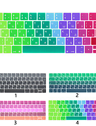 cheap -European Version Of Russian Keyboard Film Apple Laptop Keyboard Protective Film For MacBook Air Pro Retina 11/12/13/15 Inch Gradient color Silicone