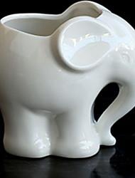cheap -Animals Ceramic Flower Pot Cute Elephant Succulent Flower Planter Pot Home Decor Garden Vase Desktop Mini Ornaments