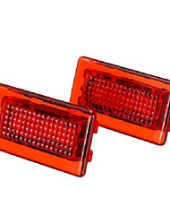 cheap -4 SMD LED Door Side Warning Signal Light High Output Interior Flash Lamp Red Upgrade 2PCS for Tesla Model S X
