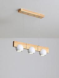 abordables -QIHengZhaoMing 3 lumières Lustre Lumière d'ambiance Bois / Bambou 110-120V / 220-240V