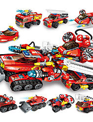 cheap -Building Blocks 1 pcs compatible Legoing Hand-made Police car Helicopter All Toy Gift