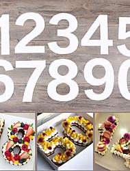 Недорогие -Иу pho_087y акриловый цифровой 0-9 торт формы 4-12 дюймов большой diy шаблон выпечки торта 4 дюйма