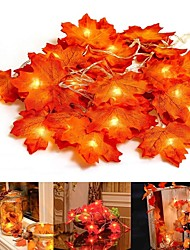 cheap -3m Fall Thanksgiving Maple Leaf Lamp Garland Decoration Decor LED Lighted Autumn Leaves