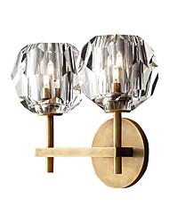 cheap -2-Light Wall Sconces G9 Crystal Wall Light Fixtures Post-Modern Crystal Wall Lamp Wall Lamp for Bedroom Gold