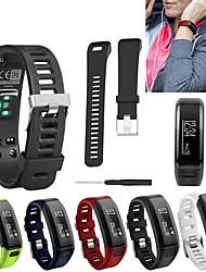 Недорогие -Ремешок для часов для Vivosmart HR Garmin Спортивный ремешок / Классическая застежка / Современная застежка силиконовый Повязка на запястье