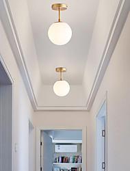 cheap -1-Light Flush Mount Lights Ambient Light Electroplated Metal 110-120V 220-240V Warm White