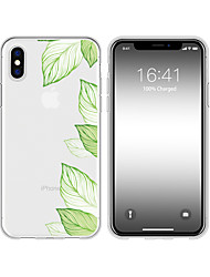 cheap -Case For iPhone X XS Max XR XS Back Case Soft Cover TPU Hand drawn leaves Soft TPU for iPhone5 5s SE 6 6P 6S SP 7 7P 8 8P16*8*1