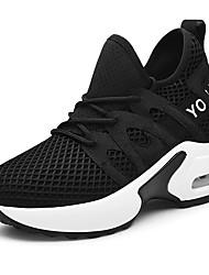 cheap -Women's Sneakers Sporty Look Wedge Heel Mesh Sweet / Minimalism Spring &  Fall / Summer Black / White