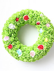 cheap -New PE / Paolilon / Lace Pure Hand-made Full Flower Round Modeling Green Pendant For Home Decoration / Courtyard Gift