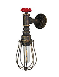 cheap -Antique Wall Lamp Water Pipe Design 1 Light Industrial Edison Wall Sconces Edison Bulb Night Lighting American Simplicity Wall Lamps with Wire Cages for Hallway Bar Aisle