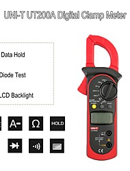 cheap -Clamp meter UT200A Current Clamp AC 200A DC AC Voltmeter Resistance Mmanual Range LCD Digital Clamp Meter Mini Clamp