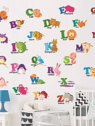 cheap -Creative Diy Animal English Alphabet Wall Sticker For Children'S Rooms Living Room Kindergarten Bedroom Sticker Decorative Wall Stickers - Plane Wall Stickers Animals Kids Room / Nursery