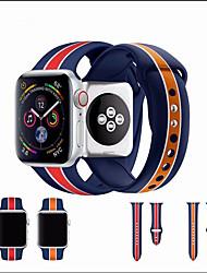 Недорогие -Цветочная группа SmartWatch для Apple Watch серии 4/3/2/1 спортивная группа силиконовый ремешок iwatch двойной / одинарная пряжка