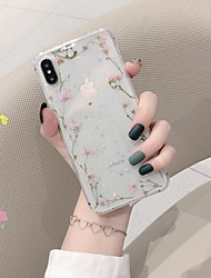 cheap -Case For Apple iPhone XS / iPhone XR / iPhone XS Max Shockproof / Pattern Back Cover Flower TPU