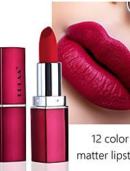 abordables -Rouge à lèvres mat de 12 couleurs imperméable hydratant brillant à lèvres maquillage durable