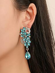 cheap -Women's Earrings Chandelier Flower Classic Vintage Elegant Earrings Jewelry White / Blue For Party Daily Work Festival 1 Pair