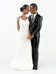 cheap -Wedding Cake Toppers, Resin African American Wedding Figurine Decoration, 6.30 inch