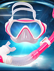 cheap -Snorkeling Set Diving Package - Diving Mask Snorkel - Anti Fog Universal Dry Top Swimming Diving Silicon Rubber Tempered Glass PC  For  Kids