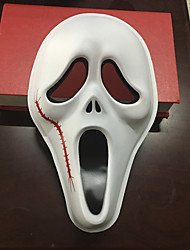 cheap -Ghost Face Mask with Hand-painted Halloween Cosplay Scream Mask for Festival Costume Party Show