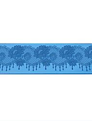 Недорогие -Dongguan pho_08pz Пион Цветочные Кружева Плесень Кружева Плесень Кружева Плесень Пион Форма Цветка Помадка Торт Плесень Объемная 38.5x11.2 см