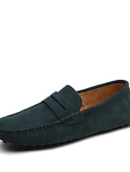 cheap -Men's Fall Casual / British Daily Loafers & Slip-Ons Walking Shoes Suede Breathable Non-slipping Wear Proof Light Brown / Black / Navy Blue