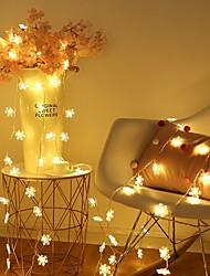 cheap -2m Snow Flakes String Lights 10 LEDs Warm White Christmas Wedding Party Decorative AA Batteries Powered 1set