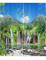 Недорогие -современная простая цифровая печать китайский ветер украшения дома светозащитные водонепроницаемый занавески для ванной спальня звукоизоляционные пыленепроницаемый занавес