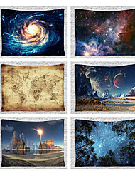cheap -Wall Hanging Galaxy Tapestry Milky Way Map Starry Sky Tapestry Bedspread Throw Blanket Home Room Wall Decor