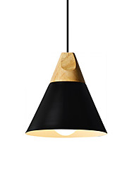cheap -Nordic Style Wood Pendant Light Simplicity Modern Metal Shade Living Room Dining Room Bedroom Pendant Lamp