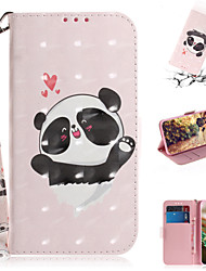 cheap -Case For Samsung Galaxy Note 10.1 Wallet / Card Holder / with Stand Full Body Cases Animal / 3D Cartoon PU Leather