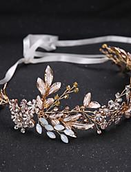 cheap -Alloy Tiaras with Rhinestone / Crystal 1 Piece Wedding / Congratulations Headpiece