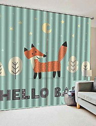 cheap -Made in China 3D Printing Cartoon Small Fox Multi-purpose Curtain Blackout Waterproof Mildew-proof 100%Polyester Bath Curtain