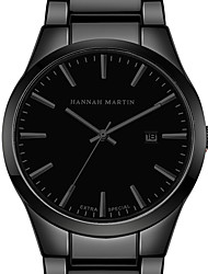 cheap -hannah martin men sports wristwatch display date business black quartz watch