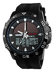 cheap -Dress Watch Silicone Analog - Digital Black Silver Brown