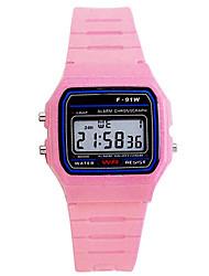 Недорогие -Спортивные часы силиконовый Цифровой Розовый