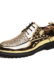 cheap -Men's Patent Leather Spring & Summer / Fall & Winter Casual / British Oxfords Breathable Booties / Ankle Boots Black / Gold / Silver / Beading / Party & Evening / Sequin / Party & Evening