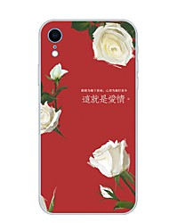 cheap -Case For Apple iPhone XR Pattern Back Cover Flower Soft TPU for iPhone XR