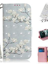 Недорогие -Кейс для Назначение Sony Sony Xperia L3 / Sony Xperia 10 / Sony Xperia 10 Plus Кошелек / Бумажник для карт / Защита от удара Чехол Цветы Кожа PU