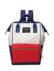 Недорогие -Большая вместимость Оксфорд Молнии рюкзак Сплошной цвет Повседневные Синий / Черный / Красный / Наступила зима