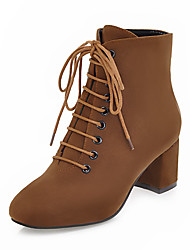 cheap -Women's Boots Sexy Boots Chunky Heel Square Toe PU(Polyurethane) Mid-Calf Boots Vintage / British Fall & Winter Brown / Black / Gold / Green / Party & Evening