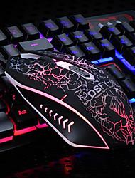 Недорогие -litbest USB проводная мышь клавиатура игровая клавиатура мышь 800-1200-1600-2000 4 dpi