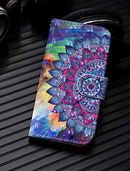 cheap -Phone Case For Samsung Galaxy Full Body Case Leather A3 A5 A8 2018 A8+ 2018 A7 Galaxy A9(2018) A10 A30 A50 A20 Wallet Card Holder with Stand Flower / Floral Hard PU Leather