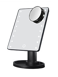 cheap -Cosmetic Mirrors 360° Rotation / Adjustable Dynamics / On / Off Switch Makeup 1 pcs Metalic / Glass / Plastic Quadrate Universal / Daily / Cosmetic Stylish / Trendy Party / Evening / Daily Wear / Date