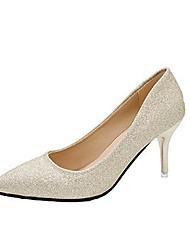 cheap -Women's Heels Stiletto Heel PU(Polyurethane) Casual Summer Gold / Silver