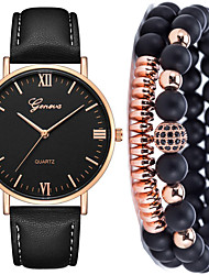 cheap -Men's Dress Watch Quartz Leather Black / Brown No Chronograph Cute Creative Analog New Arrival Minimalist - Brown Rose Gold Black / Rose Gold One Year Battery Life