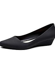 cheap -Women's Heels Wedge Heel Pointed Toe PVC(Polyvinyl chloride) Vintage Summer Purple / Blue / Almond